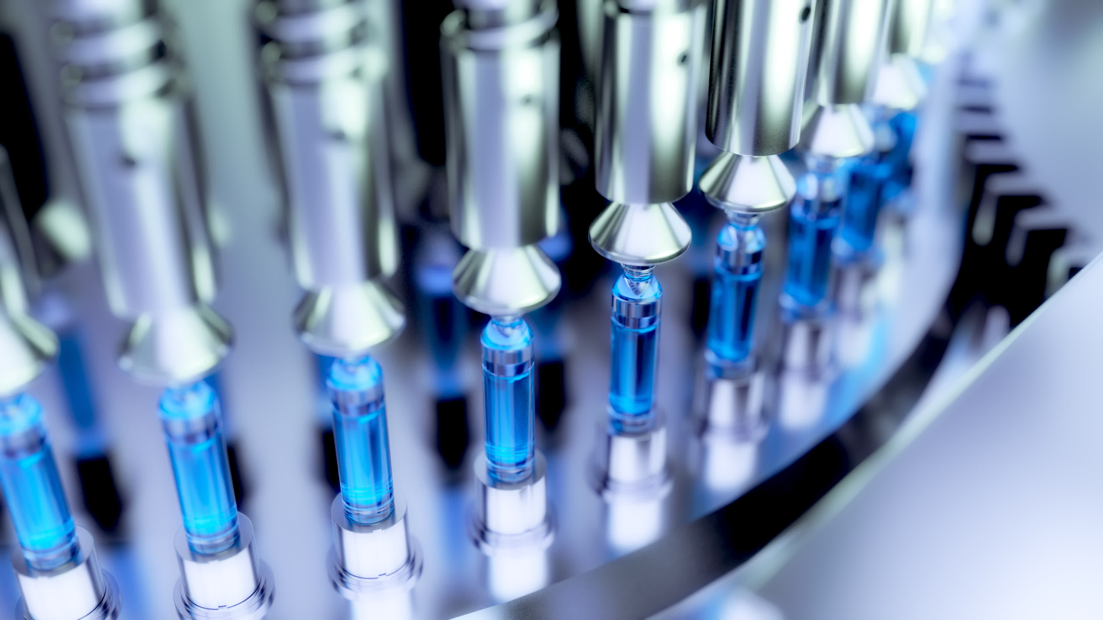 Pharmaceutical Optical Ampoule / Vial Inspection Machine. 3d illustration